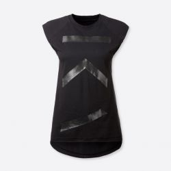 Cotton Tank Top FIRE | Black
