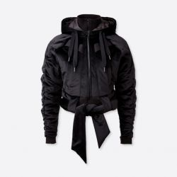 Bomber Jacket FIRE | Black