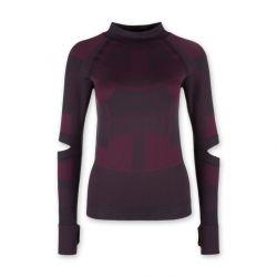 Nahtloses Langärmeliges T-Shirt | Bordeaux