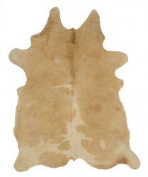 Einzigartiger Rindslederteppich | Beige-Weiß