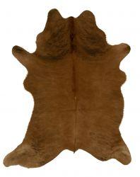 Einzigartiger Rindslederteppich | Braun-Dunkelbraun