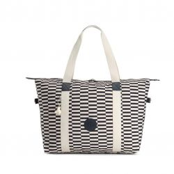 Shopper Bag Eyes Wide Open | White Blue