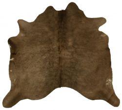 Einzigartiger Rindslederteppich | Grau-Schwarz-Beige