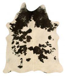 Einzigartiger Rindslederteppich |  Schwarz-Weiß-Grau-Creme-Beige
