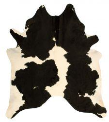 Einzigartiger Rindslederteppich |  Weiß-Schwarz-Dunkelbraun