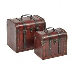 Set of 2 Box 26 & 32 cm | Brown