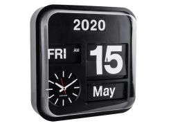 Wall Clock Big Flip | Black Casing / Black Dial