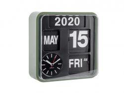 Horloge Murale Mini Flip | Noir & Vert