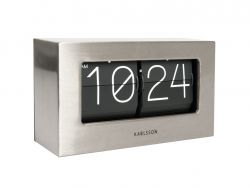 Horloge de Table Boxed Flip | Acier
