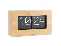 Wall / Table Clock Boxed Flip | Bamboo