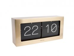 Horloge de Table Boxed Flip XL | Or
