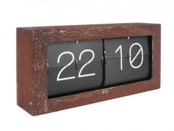 Table Clock Boxed Flip XL | Rusted Finish