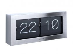 Horloge de Table Boxed Flip XL | Acier