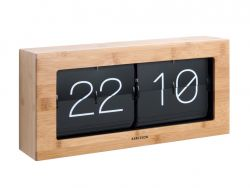 Horloge de Table Boxed Flip XL | Bambou