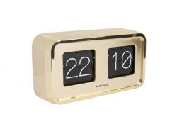 Table Clock Bold Flip | Gold