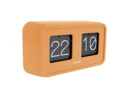 Table Clock Bold Flip | Curry Yellow