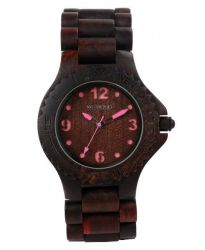 WeWood Watch Kale choco/pink