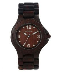 WeWood Watch Kale choco/white