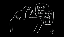 Fußmatte | KAMA Krabbe Eens | Schwarz
