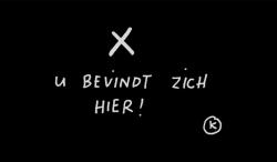 Fußmatte | KAMA U Bevindt Zich | Schwarz