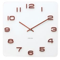 Wall Clock Vintage | White + Copper Numbers