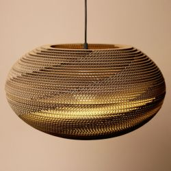 Cardboard Lampshade | Oval
