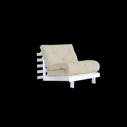 Sofa Bed Roots 90 | White/Beige