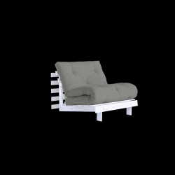 Sofa Bed Roots 90 | White/Grey