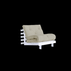 Sofa Bed Roots 90 | White/Linen