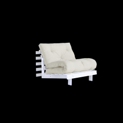 Sofa Bed Roots 90 | White/Natural