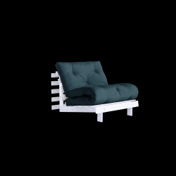 Sofa Bed Roots 90 | White/Petrol Blue