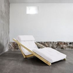 Figo Loungezetel/bed -  Naturel/naturel