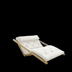 Canapé-Lit Figo 120 | Cadre Naturel + Matelas Naturel