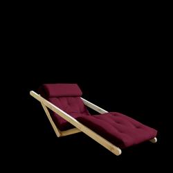 Sofabett Figo 70 | Natürlicher Rahmen + Bordeaux-Matratze