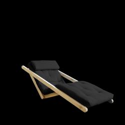 Sofabed Figo 70 | Natural Frame + Dark Grey Mattress