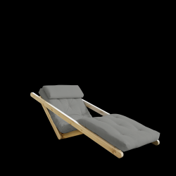 Sofabed Figo 70 | Natural Frame + Grey Mattress