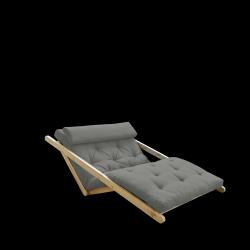 Sofabed Figo 120 | Natural Frame + Grey Mattress