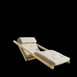 Sofabed Figo 70 | Natural Frame + Beige Mattress