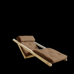 Sofabed Figo 70 | Natural Frame + Mocca Mattress