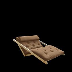 Sofabed Figo 120 | Natural Frame + Mocca Mattress