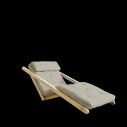 Sofabed Figo 70 | Natural Frame + Linen Mattress