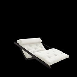 Sofabed Figo 120 | Black Frame + Natural Mattress