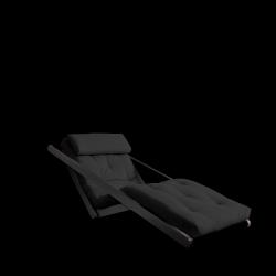 Sofabed Figo 70 | Black Frame + Dark Grey Mattress
