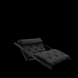 Sofabed Figo 120 | Black Frame + Dark Grey Mattress