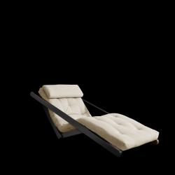 Sofabed Figo 70 | Black Frame + Beige Mattress