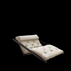 Sofabed Figo 120 | Black Frame + Beige Mattress
