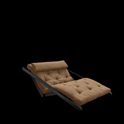 Sofabed Figo 120 | Black Frame + Mocca Mattress