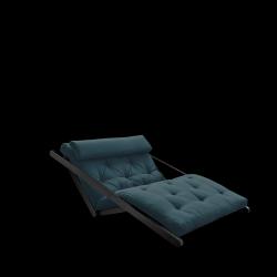 Sofabed Figo 120 | Black Frame + Petrol Blue Mattress