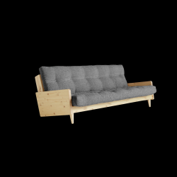 Sofabed Indie | Natural Frame + Granite Grey Mattress