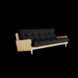 Sofabed Indie | Natural Frame + Dark Grey Mattress